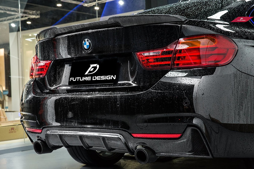 BMW F32/F33/F36 Carbon Fiber M-Performance Style Rear Diffuser for 435i 440i Exhaust