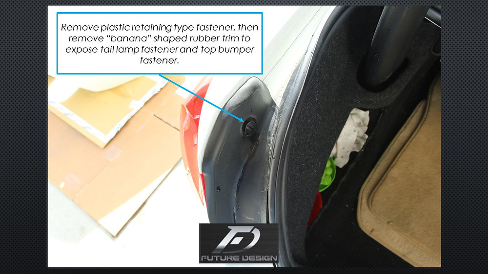 BMW F30 Rear Bumper Removal