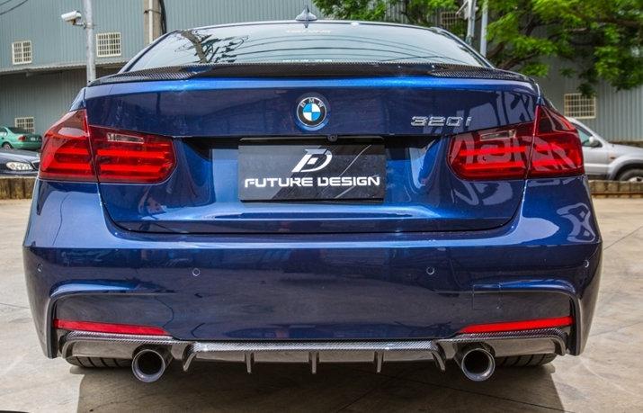 BMW F30 F31 3-Series Carbon Fiber Rear Diffuser for 335i