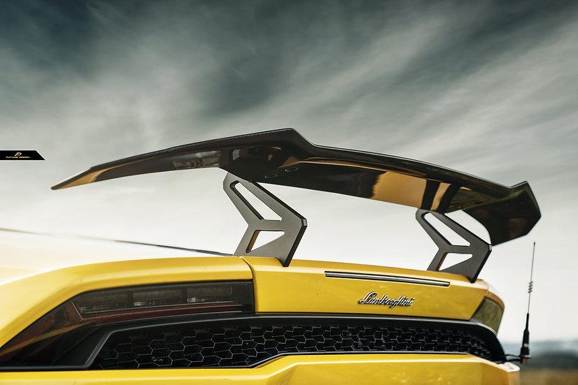 GT3 style reverse hook carbon fiber spoiler for Huracán similar to vorsteiner 1016 dmc zacoe morph mansory liberty walk