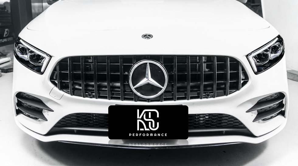 w177 panamericana amg gt style front grill finished in gloss black. in stock in usa