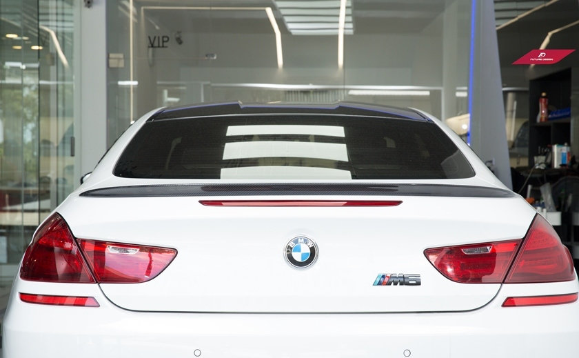 Future Design BMW F06 F13 6-Series M-Performance Style Carbon Fiber Spoiler