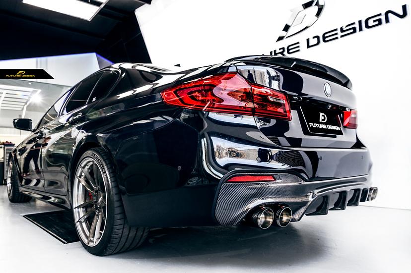 BMW G30 5-Series Carbon Fiber GT Rear Diffuser