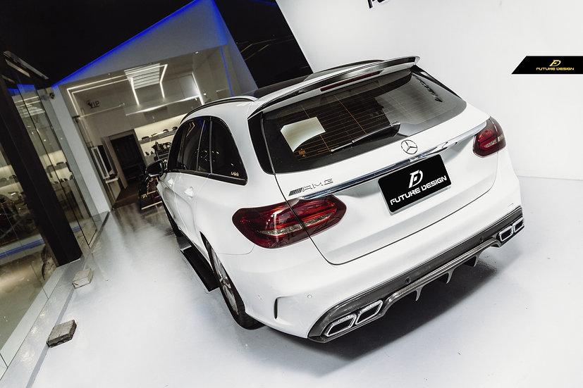 AMG edition one 1 style carbon fiber spoiler for mercedes benz s205 c300 c400 c450 c43 c63 c class wagon