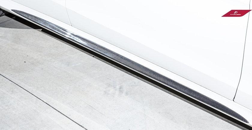 Side Skirt Carbon Fiber Inserts - W212 E-Class (2014+ LCI)