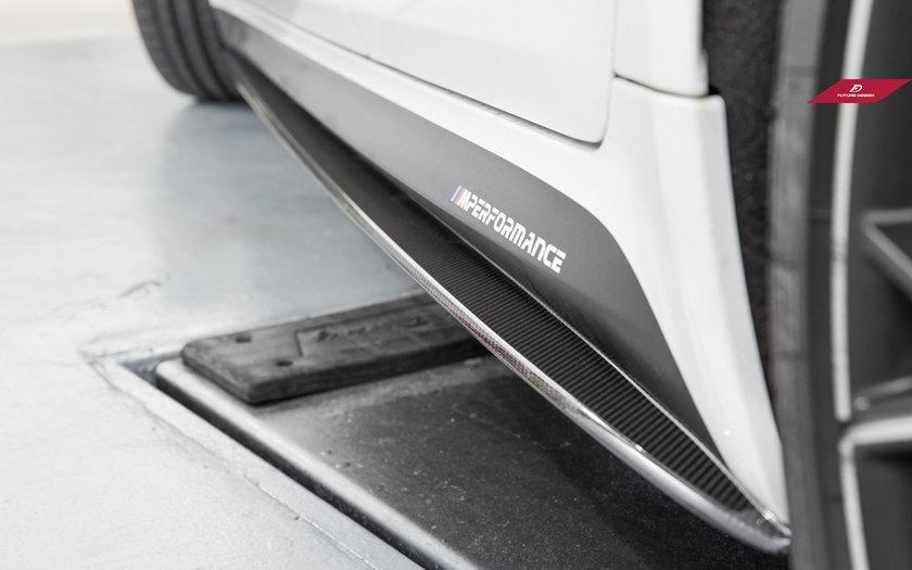 BMW G30 5-Series OEM M Performance Style Carbon Fiber Side Skirt Splitters