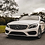 polar white 2019 C43 C300  C200 C63 w205 c205 with panamericana gt style front grill with chrome vertical stripe