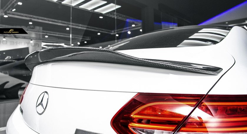 psm replica carbon fiber spoiler for benz w205 c class coupe similar to mode amg vorsteiner