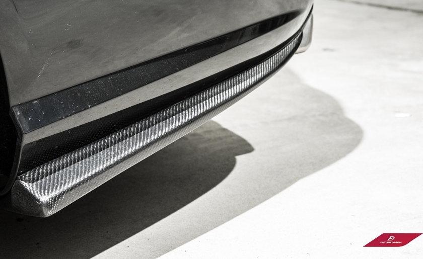 Carbon FiberRear Bumper Side Lower Splitters - W212 E-Class - Pre-LCI
