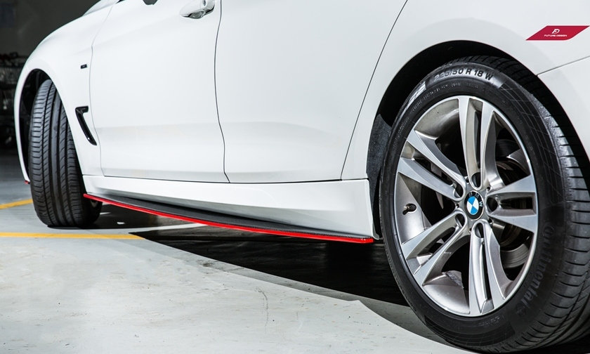 BMW F34 3-Series Gran Turismo Carbon Fiber Side Skirt Extension Splitter M Performance style best quality easy install