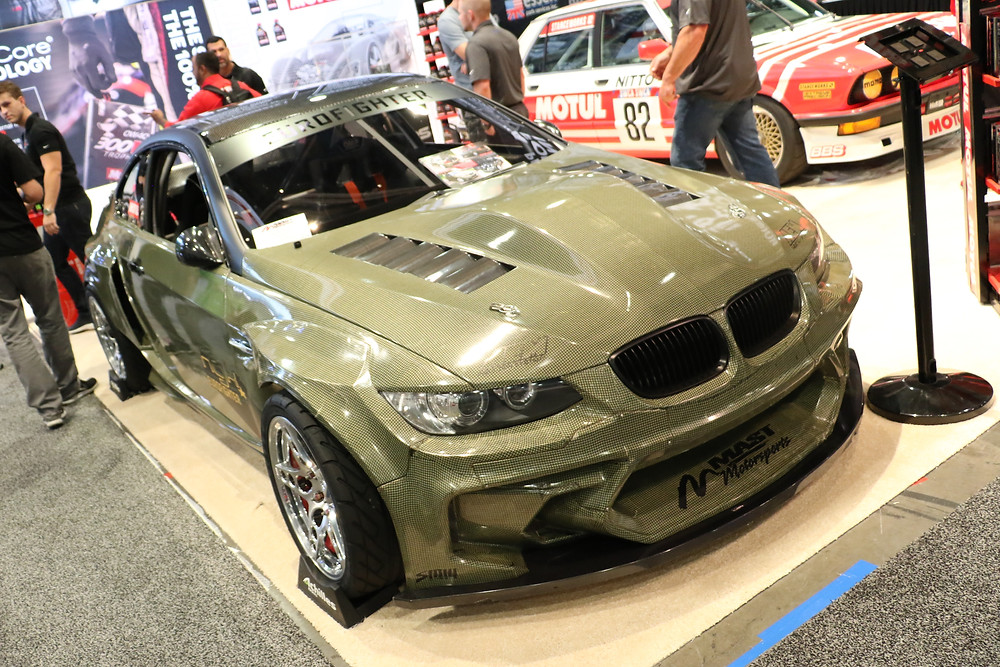 E92 M3 kevlar drift car from Germany at SEMA 2017