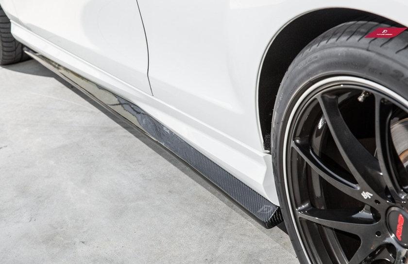 Benz W204 Pre-LCI C63 Carbon Fiber Side Skirt Splitter/Diffuser