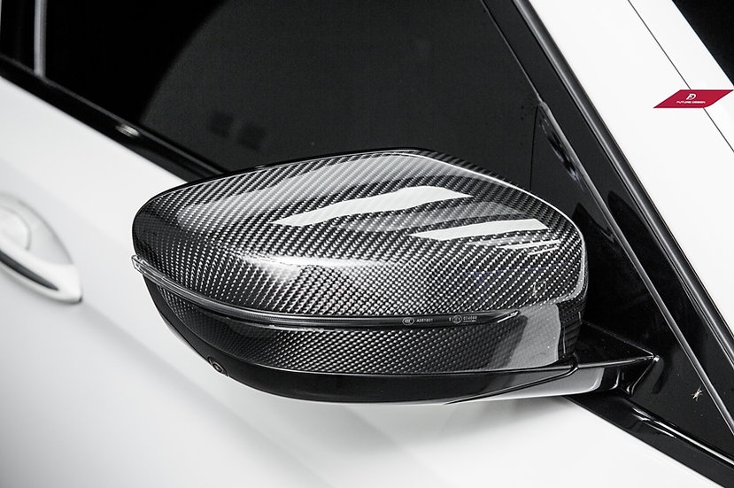 Stick-On Carbon Fiber Mirror Covers (Pair) - BMW G30 5-Series