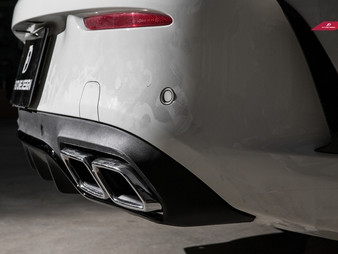 W205 Mercedes Benz C-Class C300 Coupe, C63 Quad Exhaust Tip Conversion