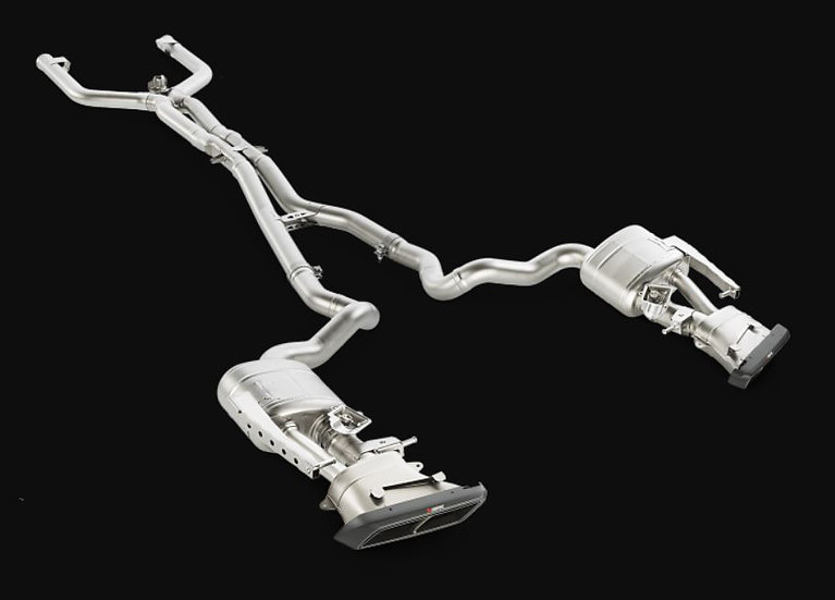 Akrapovic 15-17 AMG C63 Evolution Line Cat Back (Titanium) w/ Carbon Tips