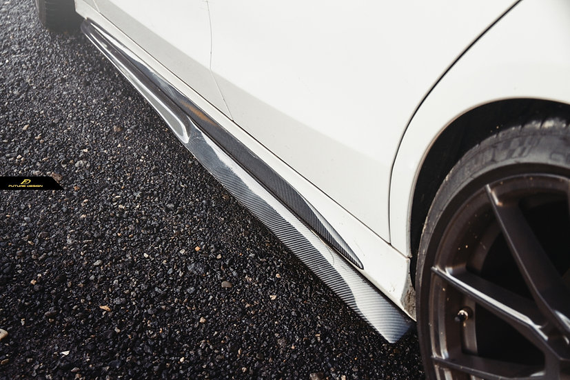 highest quality psm style replica copy carbon fiber side skirt splitters extensions similar to mode better than rw jl boca