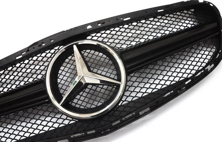 E63 Style Front Grill - Black Center Bar - W212 E-Class LCI Face lifted