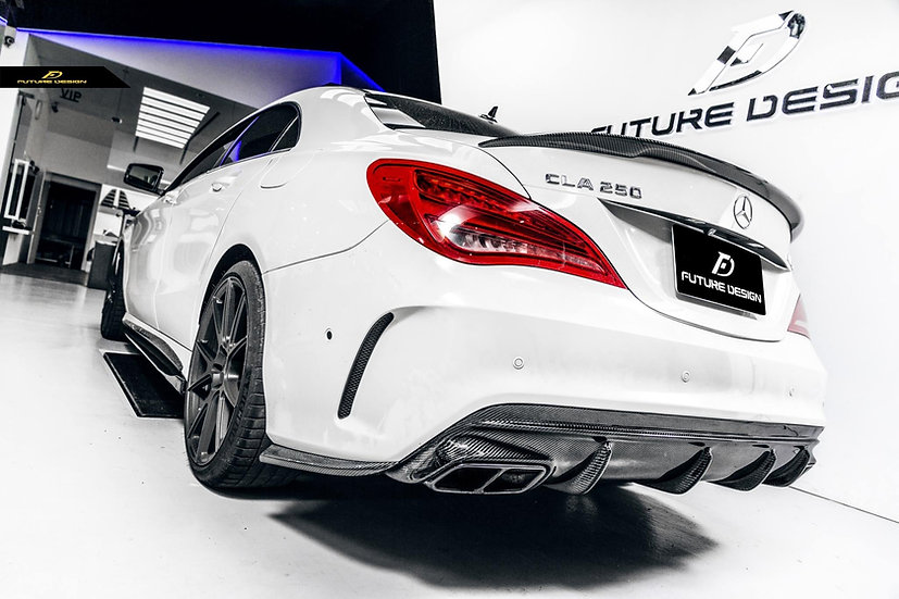 high quality CLA45 style oem stock carbon fiber rear diffuser for mercedes-benz cla45 cla250 amg sportline cla class