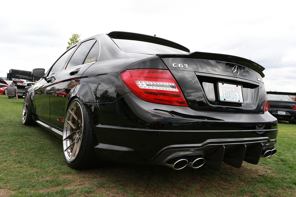 black w204 c63 with bc forged gold wheels carbon fiber aggressive large diffuser similar to brabus vorsteiner mode future design ebay modbargain aliexpress