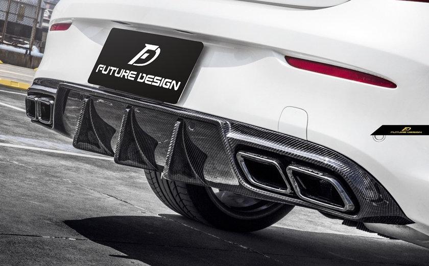Mercedes W205 C205 c63 c43 c300 c400 c450 amg coupe with future design carbon fiber diffuser similar to psm mode brabus
