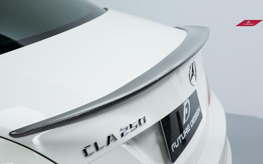 Benz W117 CLA Class cla45 cla180 cla250 carbon fiber amg oem stock stype spoiler