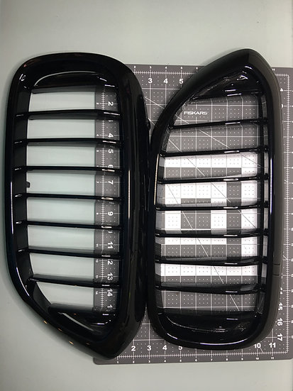 BMW G30 5-Series Gloss Piano Black Front Kidney Grills (2 Pieces Set)