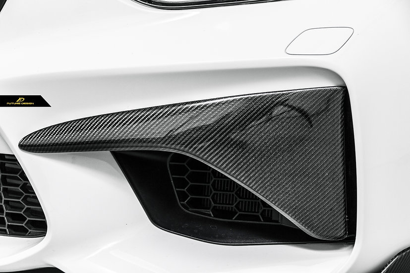alpine white F87 M2 with carbon fiber PSM front lid brow splitter upper lip, m performance front lower lip