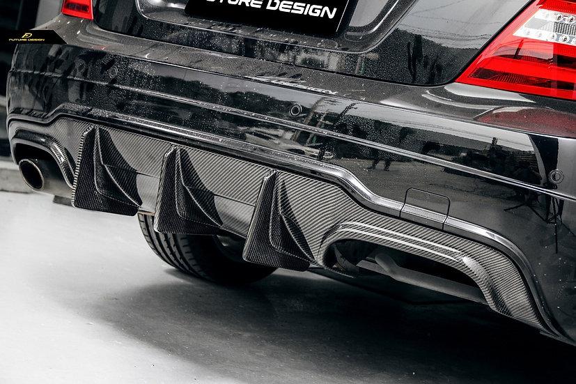 w204 c63 GP Carbon Fiber Rear Diffuser - W204 AMG