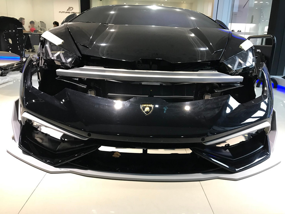 Future Design carbon fiber front lip kit for Lamborghini huracan lp610