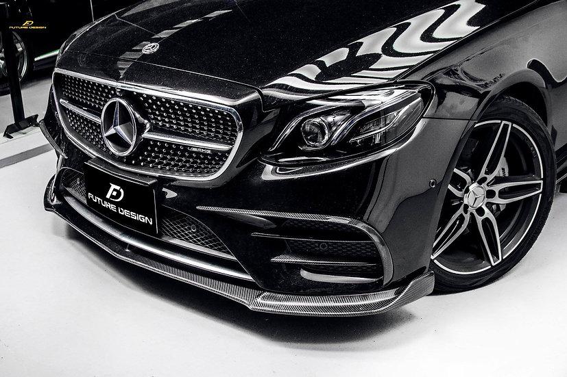 black w213 s213 sedan wagon with carbon fiber front lower lip spoiler similar to vorsteiner mode rwcarbon jlmotoring psm