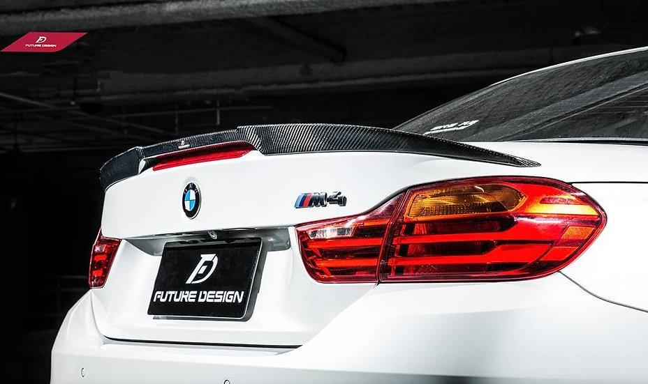 BMW F33 4 Series F83 M4 Convertible Carbon Fiber  Rear Spoiler