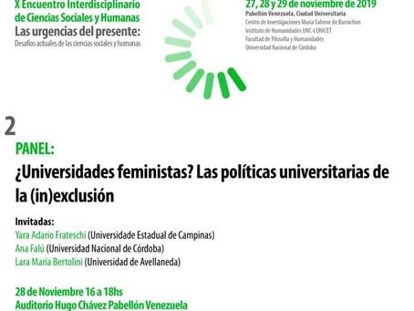 X Encuentro interdisciplinario en humanidades y ciencias sociales UNC 28/11/2019 Pabellón Venezuela