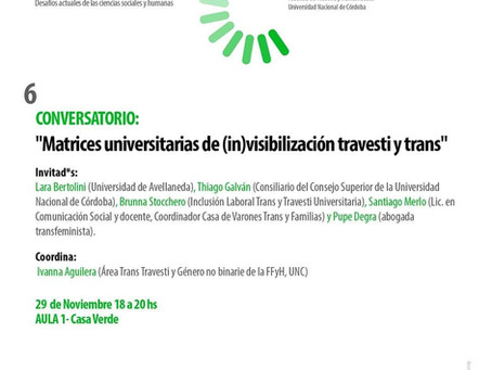 Matrices universitarias de (in)visibilización travesti trans