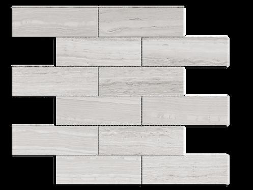 "Escarpment 2""x6"" Brick Polished Marble Mosaic"