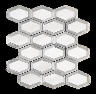 Opulence Dolomite + Grey Polished Marble Mosaic