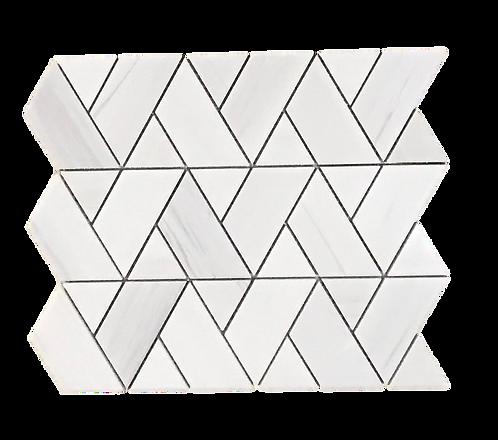 Herringweave Dolomite Polished Marble Mosaic