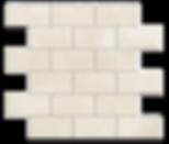 "Crema Pearl Marble Mosaic 2""x4"" Brick Polished Item#312481"