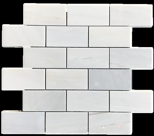 """Twilight 2""""x4"""" Brick Polished Marble Mosaic"""