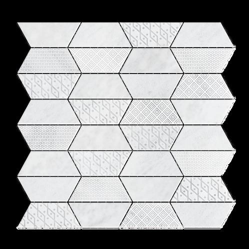 Impression Carrara Mulit-Finish Marble Mosaic