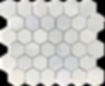 """Twilight Marble Mosaic - 2"""" Hexagon Polished Item#921591"""