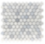 """Twilight Marble Mosaic - 1"""" Hexagon Polished Item#921391"""