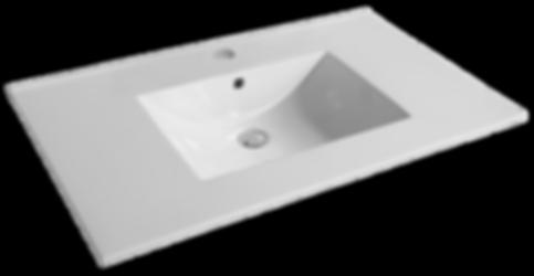 "37"" White - Ceramic Countertop (22"" Deep) Item#TC-S3722W1"