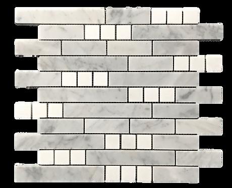 Aspire Carrara+Thassos Polished Marble Mosaic