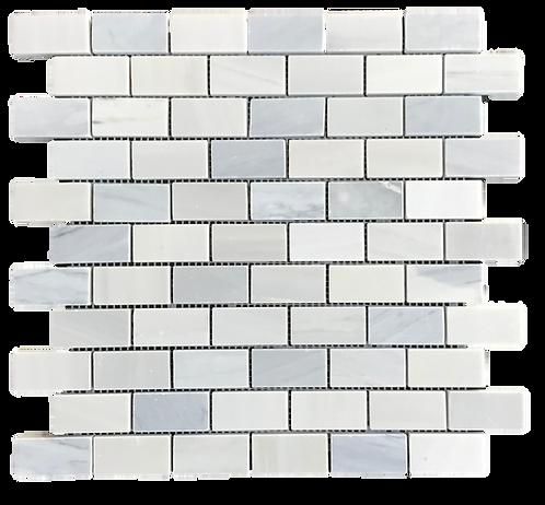 """Twilight 1""""x2"""" Brick Polished Marble Mosaic"""