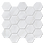 "Thumbnail: Carrara 3"" Hexagon Polished Marble Mosaic"