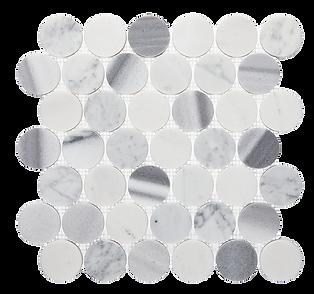 "2"" Circle Cool Blend Marble Mosaic"