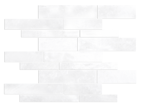 Ice White Random Strip Polished Marble Mosaic