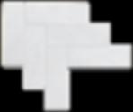 """3""""x9"""" Herringbone Carrara Marble Honed Item# 212162"""