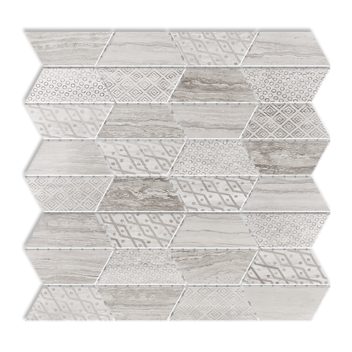 Impression Light Escarpment Mulit-Finish Marble Mosaic