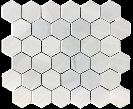 """Twilight 2"""" Hexagon Polished Marble Mosaic"""